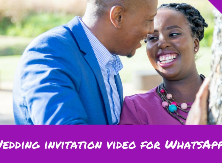 Wedding invitation video for WhatsApp