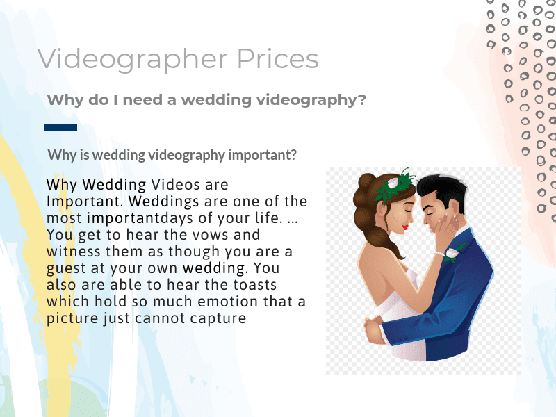 Videographer Prices